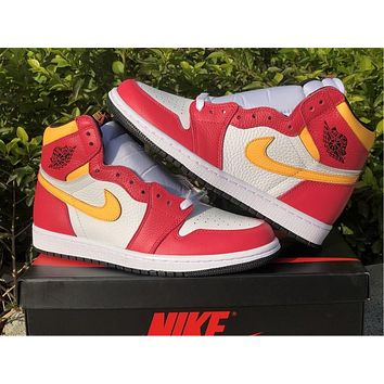 """NIKE Air Jordan 1 """"Light Fusion Red"""" candy color, 36-46"""