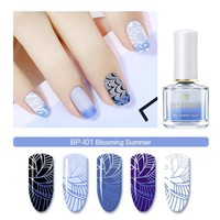 BORN PRETTY 6ml Thermal Stamping Nail Polish Chameleon Nail Art Plate Printing Polish Color Changing Nail Art Polish Lacquer