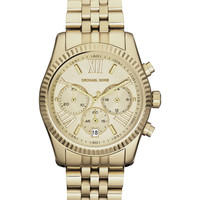 Michael Kors Women's Chronograph Lexington Gold-Tone Stainless Steel Bracelet Watch 38mm MK5556