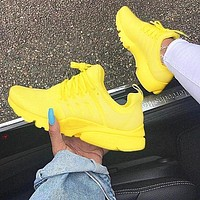 Tagre™ NIKEAir Presto Women Fashion Running Sport Casual Shoes Sneakers yellow white soles H-AA-SDDSL-KHZHXMKH