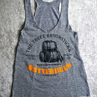 HARRY POTTER RACERBACK Womens American Apparel Tank Top - Have a Butterbeer with some friends at The Three Broomsticks