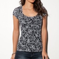 G by GUESS Rosalie Lace Tee: Amazon.com: Clothing