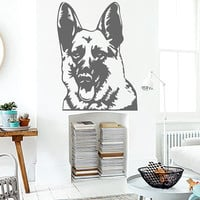 German Shepherd Dog Head Vinyl Decals Wall Sticker Art Design Living Room Modern Bedroom Nice Picture Home Decor Hall  Interior ki836