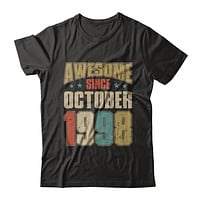 Vintage Retro Awesome Since October 1998 22th Birthday