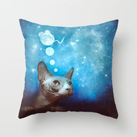 Night Dreamer Throw Pillow by SensualPatterns