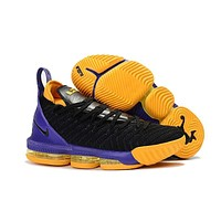 LeBron 16 XVI Black/Purple/Yellow Sneaker Shoe