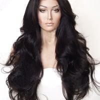 Sexy Ultra Long Synthetic Lace Front Wig