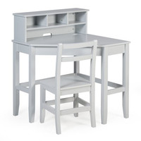 Kids Student Small Compact Corner Computer Writing Desk and Chair with Hutch