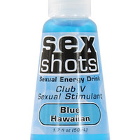 Sex Shots Club V Sex Stimulant - 1.7 Oz Blue Hawaiian