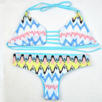 Waves Pattern Swimming Suit