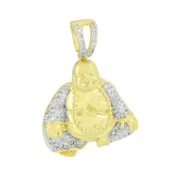Buddha Gold Finish Pendant Symbol Of Peace Buddhist Religion