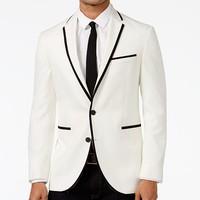 Kenneth Cole Reaction Slim-Fit White with Black Trim Dinner Jacket, Online Only Men - Blazers & Sport Coats - Macy's