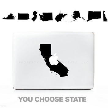 You Choose State / Country ANY! Sticker Decal for Mac Laptops - PC, iPad & iPhone Versions Available too.