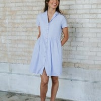 Gingham Linen Shirtdress - cladandcloth