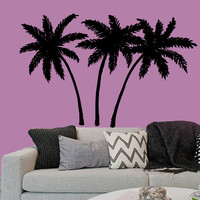 Wall Decals Palms Tree Home Vinyl Decal Sticker Kids Nursery Baby Room Decor kk149