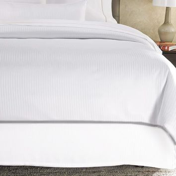 Bed Skirt by Royal - 100% Natural Cotton - Luxurious 4 Side Pleated Skirt that is Durable and Easy to Wash (Full, White)