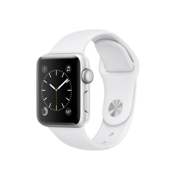 Apple Watch - Silver Aluminum Case with White Sport Band