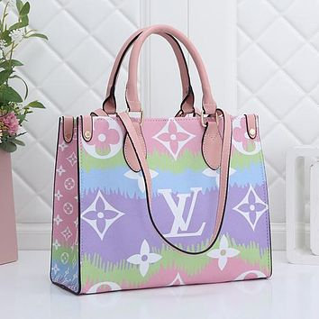 LV Louis Vuitton Gradient Printed Letter Shoulder Bag Messenger Bag Shopping Bag Key bag wallet