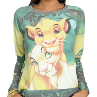 Lion King Sublimation Sweatshirt - Teen Clothing by Wet Seal