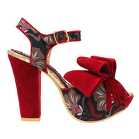 Red Perfect Joy Tapestry Heel from Irregular Choice