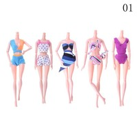 Swimming Pool beach 5 SET Swimsuits Bikini Swimming Wear Summer Beach Bathing Clothing For Barbie Doll Toys Bright, Vivid ColorsSwimming Pool beach KO_14_1