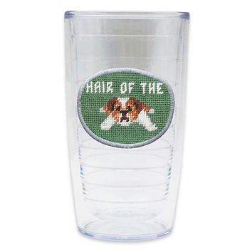Hair of the Dog Needlepoint Tumbler by Smathers & Branson