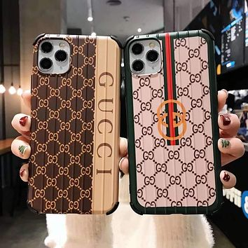 """""""Gucci"""" Unisex Personality Fashion Anti-Fall Letter Stripe Spell Color  Apple iPhone Snap-on Phone Case Hard Shell  Phone Case"""
