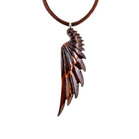 Angel Wing Pendant, Angel Wing Necklace, Wood Wing Necklace, Wing Pendant, Wing Necklace, Angel Wing Jewelry, Wood Jewelry, Wood Necklace
