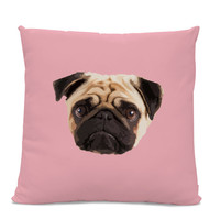 Pug Face Pillow - Pug Home Decor Living Room- dog pillow - dog home decor - pug throw pillow