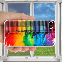 Crayon color dripping - iphone Case , iphone 5 Case ,iphone 4s case ,iphone 4 case , iphone cover,crayon dripping iphone case