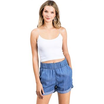Cali Chambray Shorts