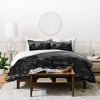 Leonidas Oxby New York Financial District Duvet Cover