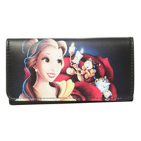 Disney Beauty And The Beast Belle Rose Flap Wallet