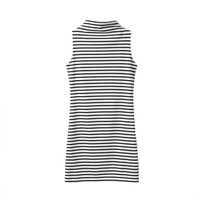 HIGH NECK STRIPES DRESS