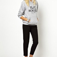 Grey Homies New York Print Hoodie Sweater