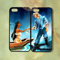 Pocahontas and John Smith Couple Case-iPhone 5, iphone 4s, iphone 4 case, ipod 5, Samsung GS3-Silicone or Hard Plastic Case, Phone cover