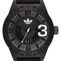 Men's adidas Originals 'Newburgh' Silicone Strap Watch, 48mm