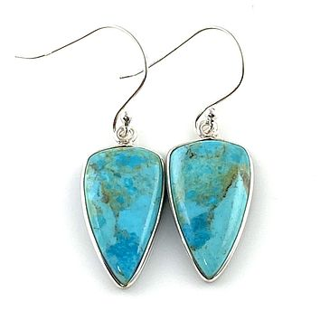 Mohave Turquoise Sterling Silver Earrings