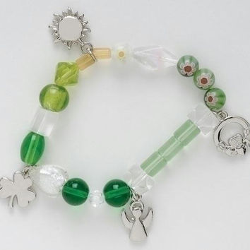 Beaded Bracelet - Irish Blessing