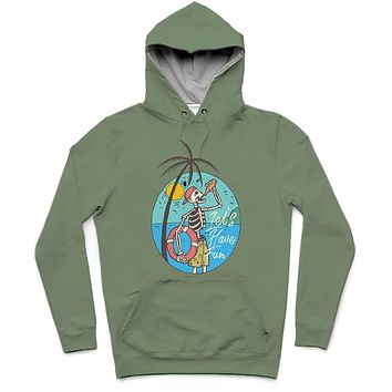 Let's Have Fun Trendy All-Over Print Solid Camouflage Green Hoodie