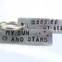Moon of My Life My Sun and Stars Key Chain Set - Game of Thrones   foxwise - Accessories on ArtFire