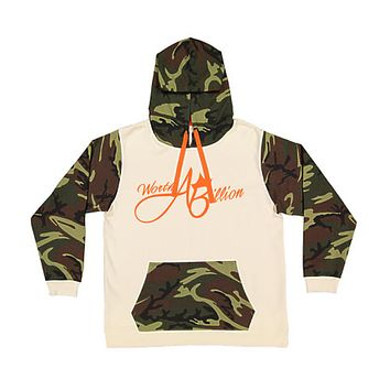 WorthABillion Split Camo Hoodie (cream, fatigue ,orange)