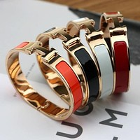 "Hot Sale ""Hermes"" Popular Women Men Personality Bracelet Jewelry Multi-Color I"