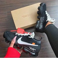 NIKE AIR VAPORMAX x OFF-WHITE Joint type atmospheric cushion running shoes