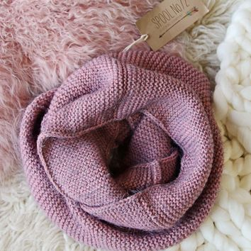 Rosalyn Knit Scarf in Mauve