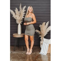 Open For Business Dress (Olive)
