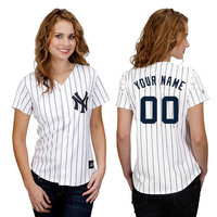 New York Yankees Women's Personalized Replica Jersey by Majestic Athletic - MLB.com Shop