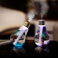 New Cool Design Home USB Ultrasonic Humidifier Lamp Bulb Humidifier Aroma LED Night Light Air Diffuser Purifier Atomizer