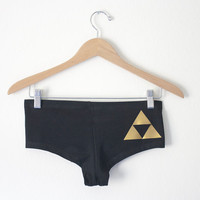 Triforce Undies/Booty Shorts -  Inspired by the Legend of Zelda