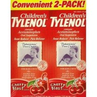 Tylenol Infants' Drops, Stage 1, Dye-Free, Cherry Flavor, 1-Ounce Bottles (Pack of 2)